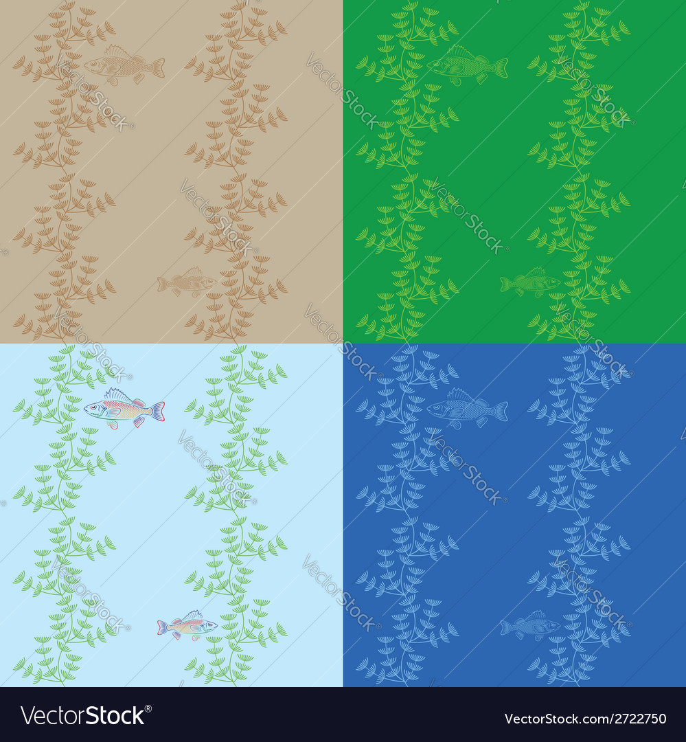 Fish under water vector | Price: 1 Credit (USD $1)