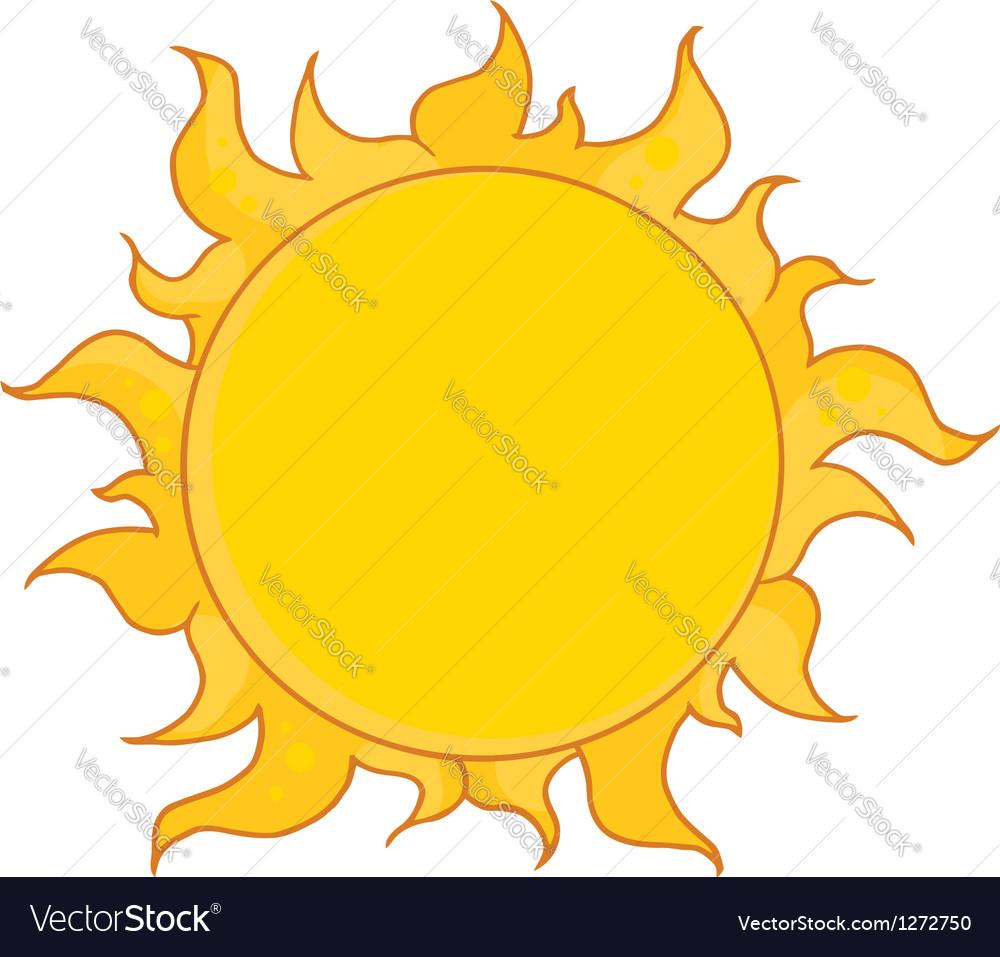 Full summer sun vector