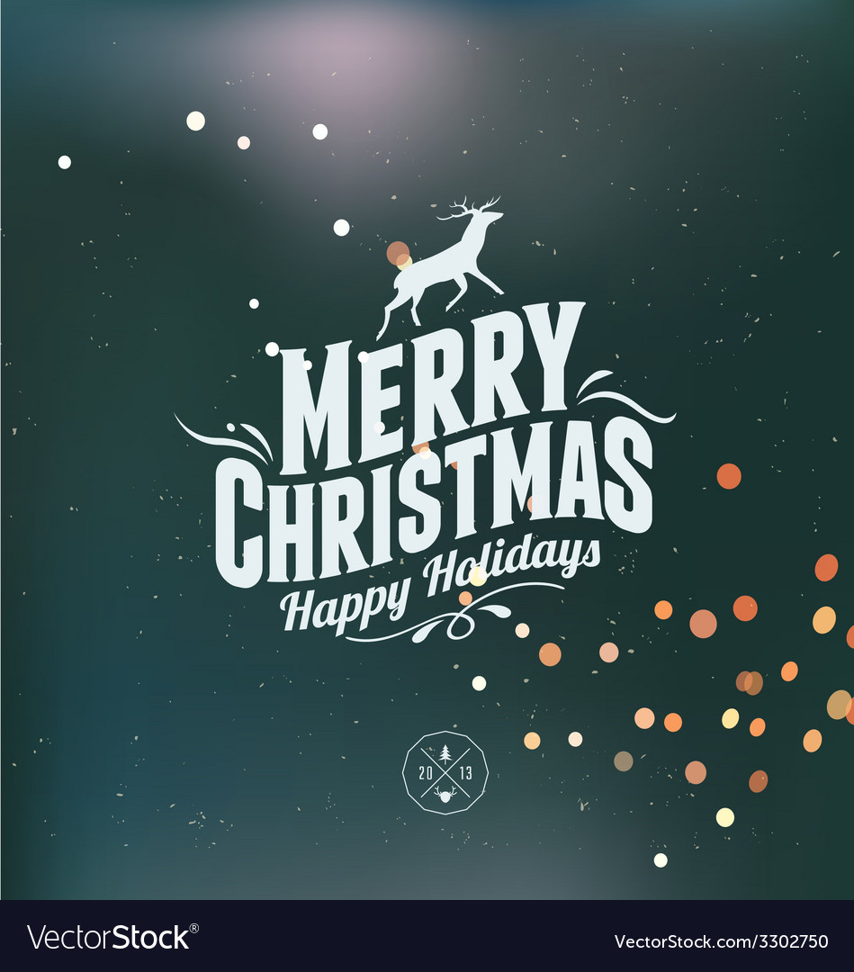 Merry christmas card vector | Price: 1 Credit (USD $1)