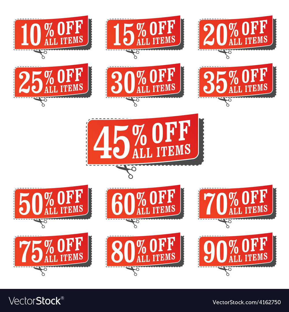 Retail coupons vector | Price: 1 Credit (USD $1)