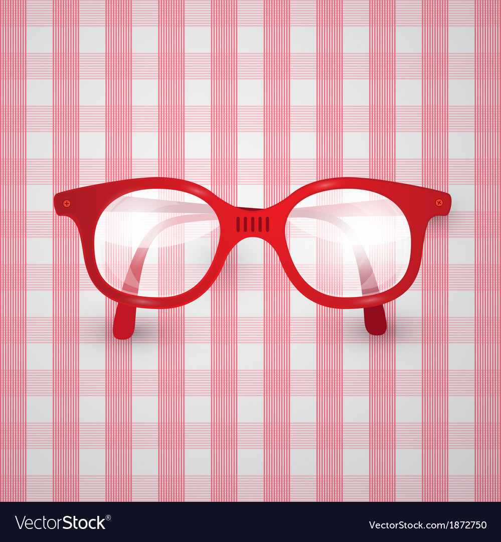 Retro background - old glasses on pink tablecloth vector | Price: 1 Credit (USD $1)