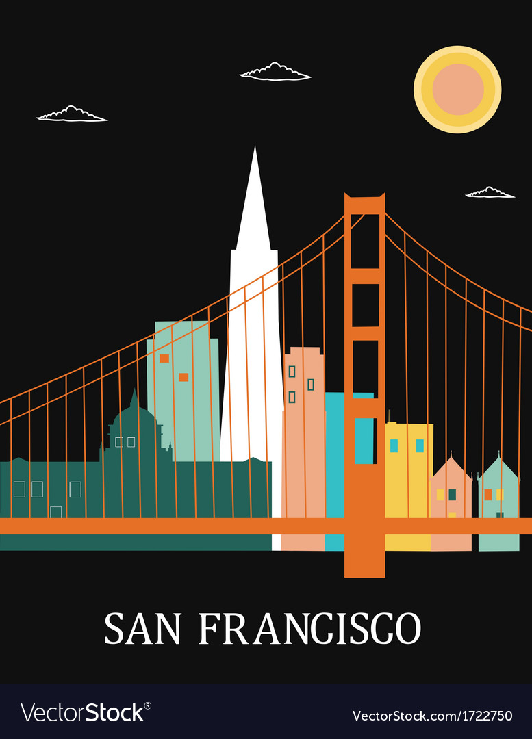 San francisco california vector | Price: 1 Credit (USD $1)