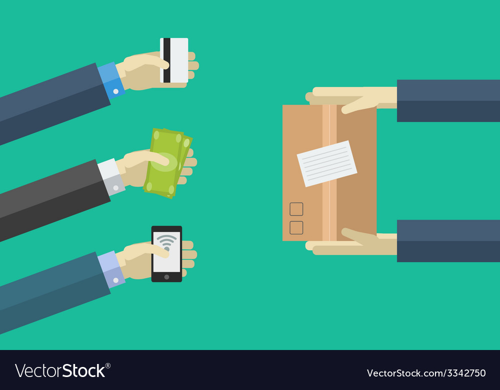 Shopping icons in flat style various payment vector | Price: 1 Credit (USD $1)