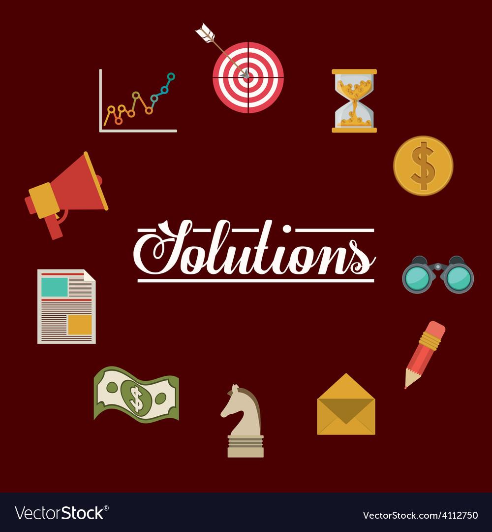 Solutions design vector | Price: 1 Credit (USD $1)