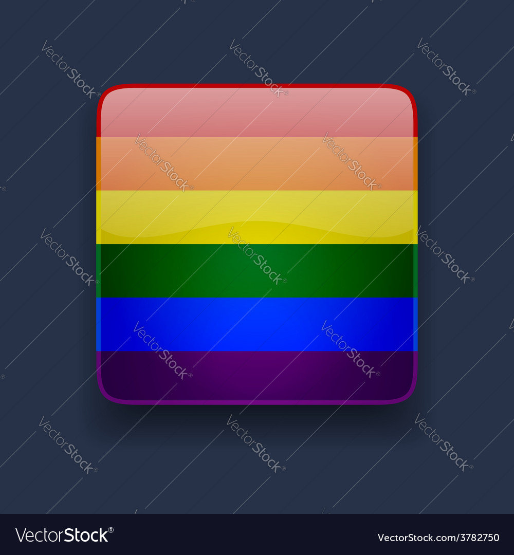 Square icon with rainbow flag vector | Price: 1 Credit (USD $1)