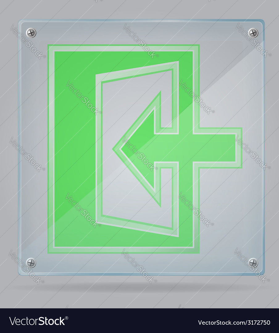 Transparent sign exit on the plate 02 vector | Price: 1 Credit (USD $1)