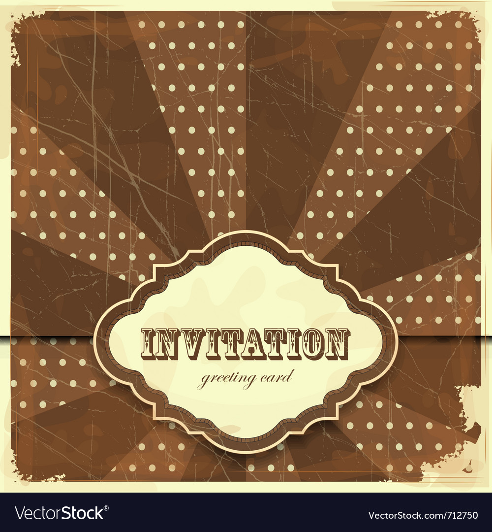 Vintage card with place for text - scrapbook style vector | Price: 1 Credit (USD $1)