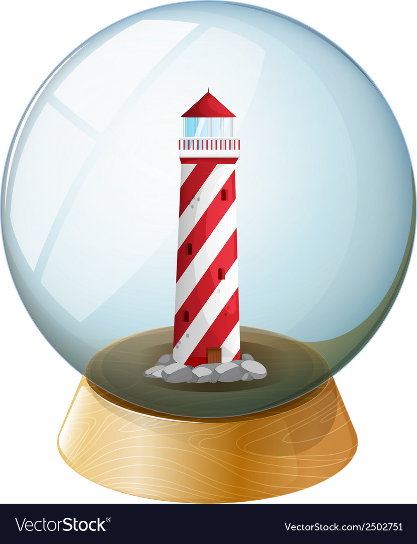 A tower inside the crystal ball vector | Price: 1 Credit (USD $1)