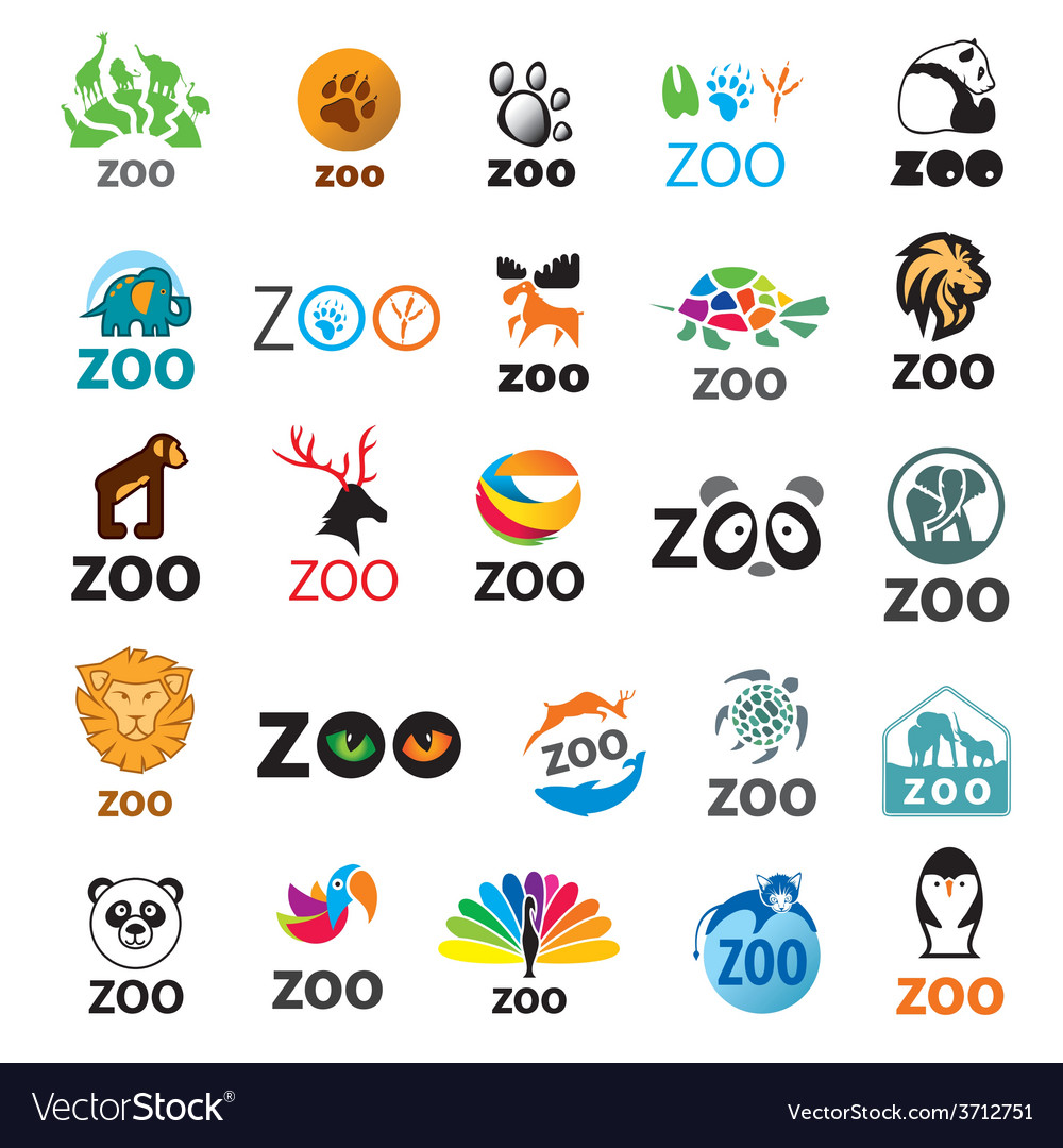 Big set of logos zoo vector | Price: 1 Credit (USD $1)