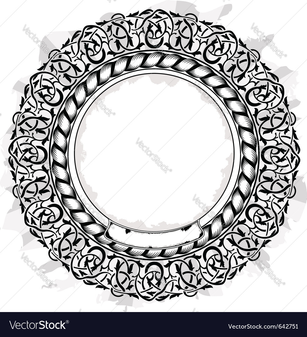 Black circle frame vector | Price: 1 Credit (USD $1)