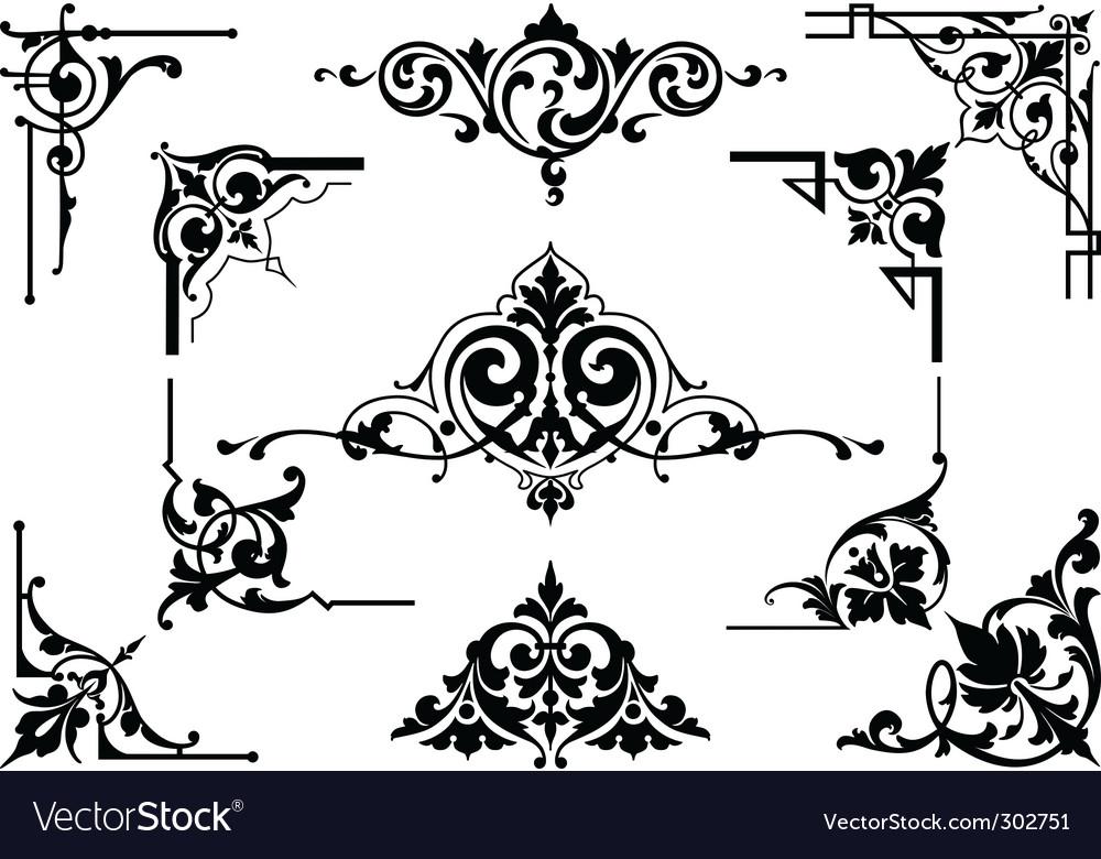 Corner design elements vector | Price: 1 Credit (USD $1)