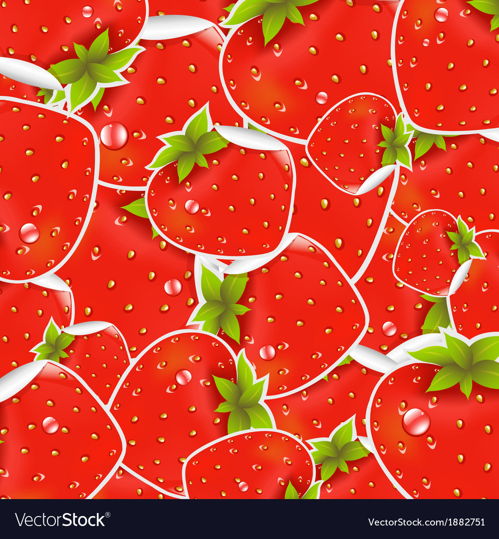 Labels strawberry vector | Price: 1 Credit (USD $1)