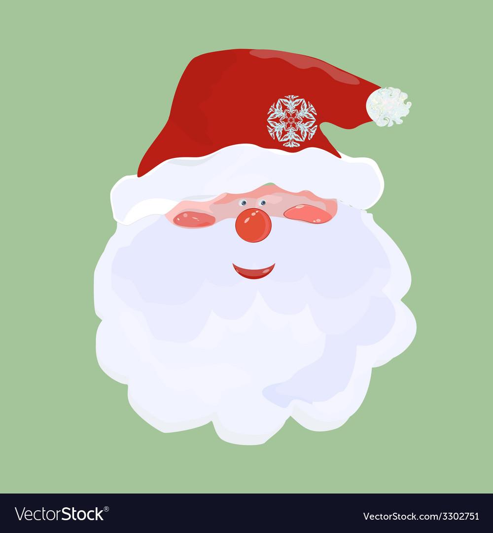 Santa in red cap vector | Price: 1 Credit (USD $1)