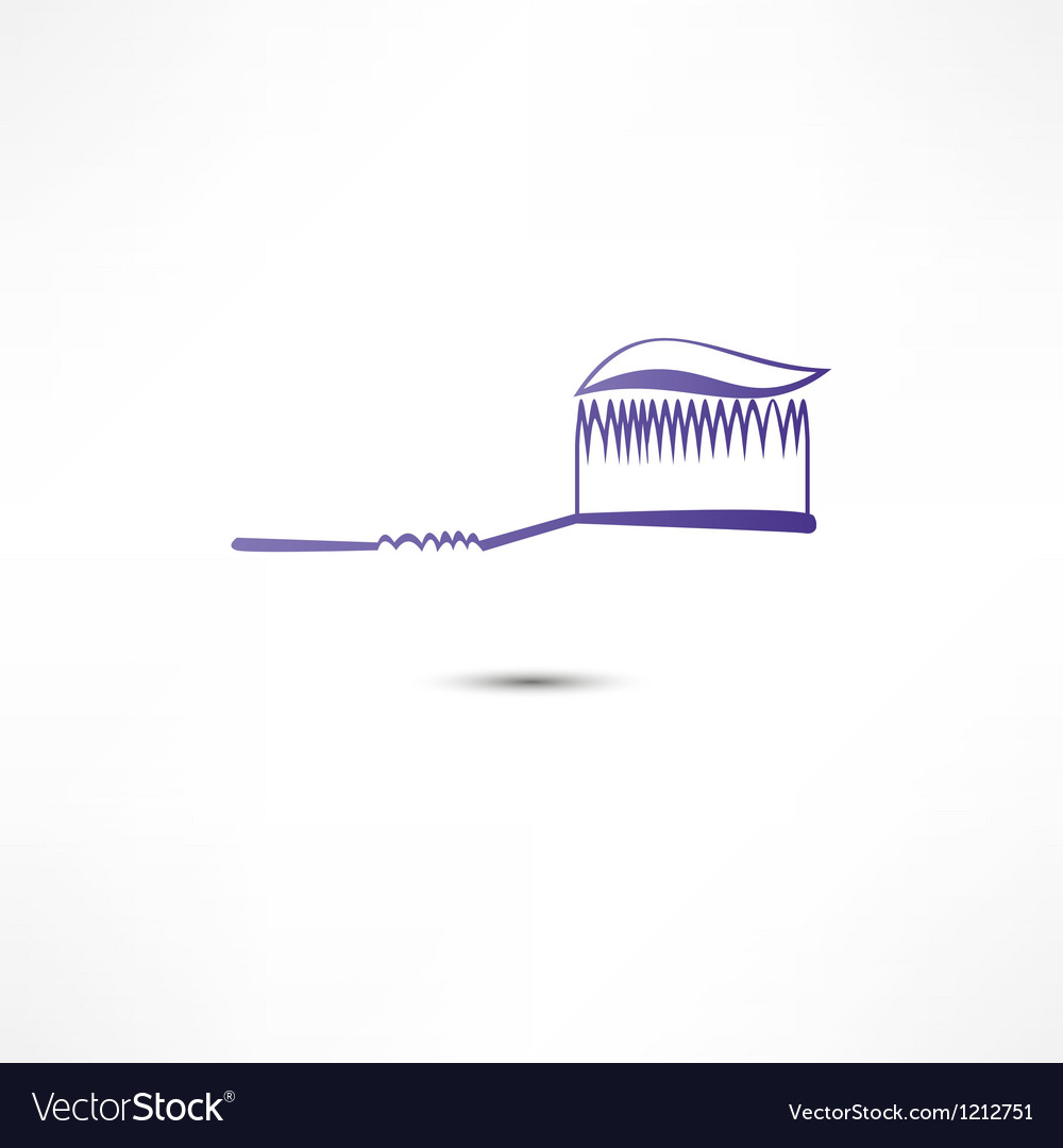 Toothpaste and toothbrush icon vector | Price: 1 Credit (USD $1)