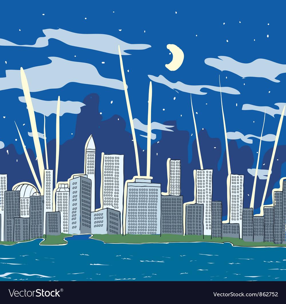 Cartoon city vector   Price: 1 Credit (USD $1)