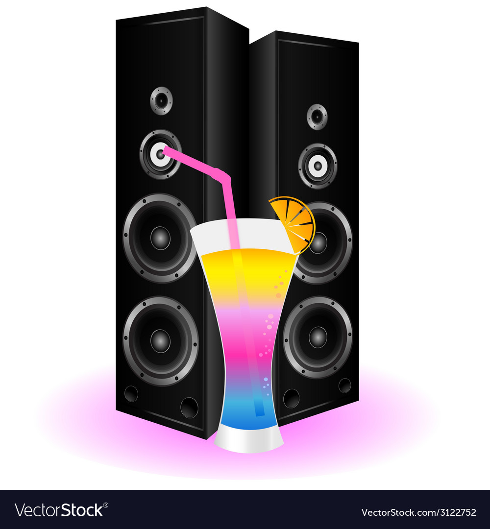 Cocktail and speaker vector | Price: 1 Credit (USD $1)