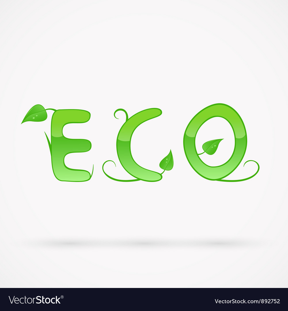 Eco title vector | Price: 1 Credit (USD $1)