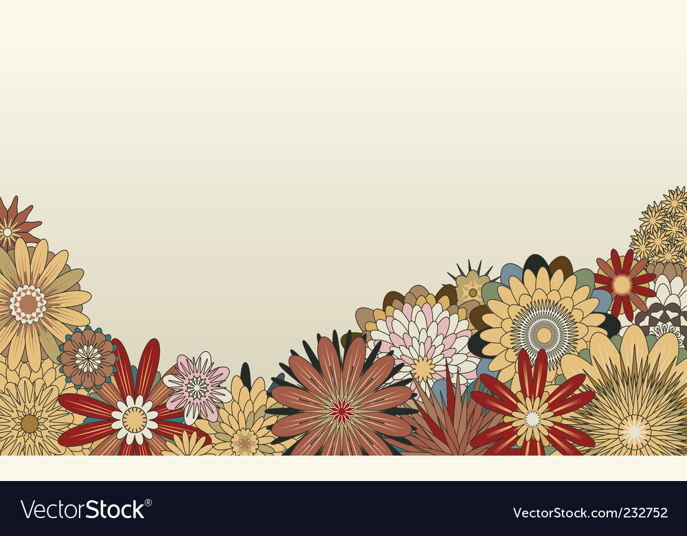 Flower foreground vector | Price: 1 Credit (USD $1)