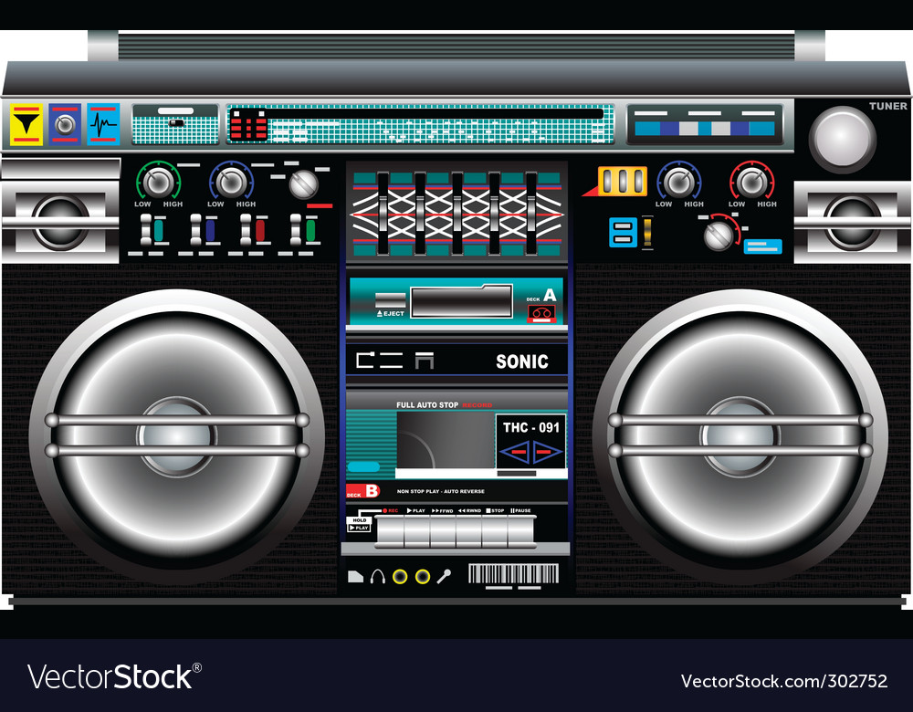 Ghetto blaster vector | Price: 1 Credit (USD $1)