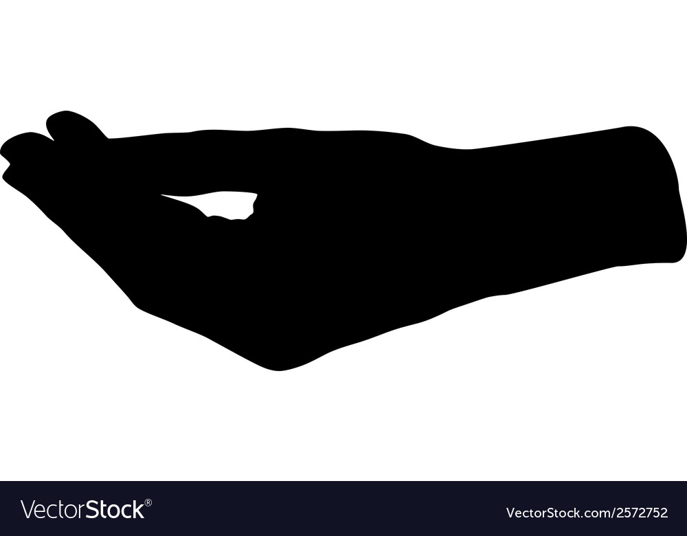 Hand asking for vector | Price: 1 Credit (USD $1)