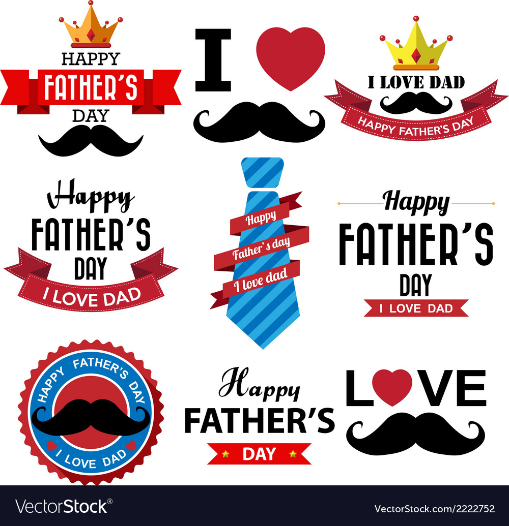 Happy fathers day vintage retro type font eps10 vector | Price: 1 Credit (USD $1)