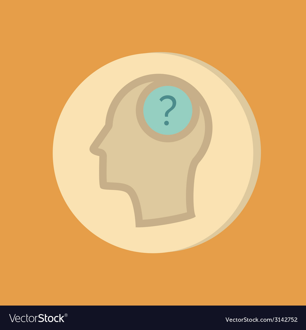 Head with a question mark avatar wonders icon help vector | Price: 1 Credit (USD $1)