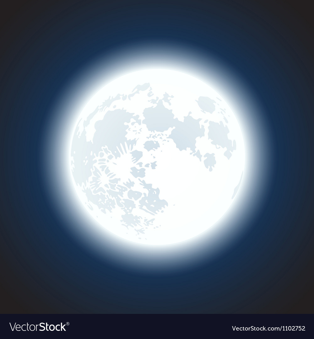 Moon background vector | Price: 1 Credit (USD $1)