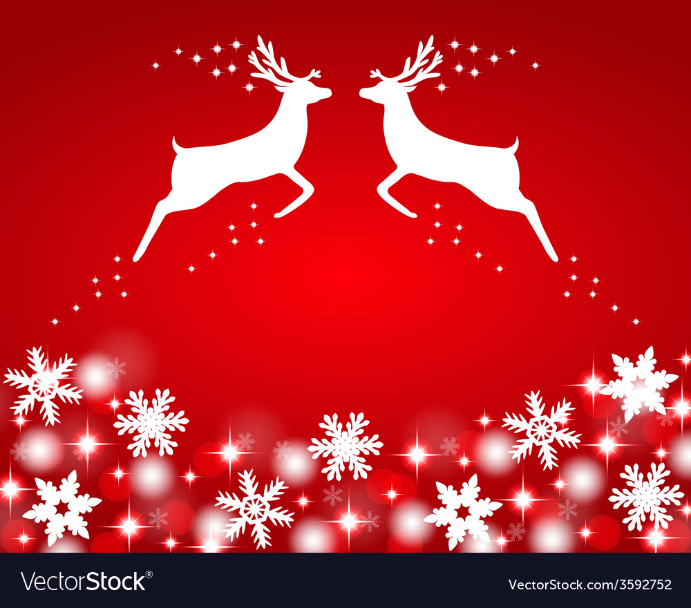 Reindeer with stars snowflakes vector | Price: 1 Credit (USD $1)