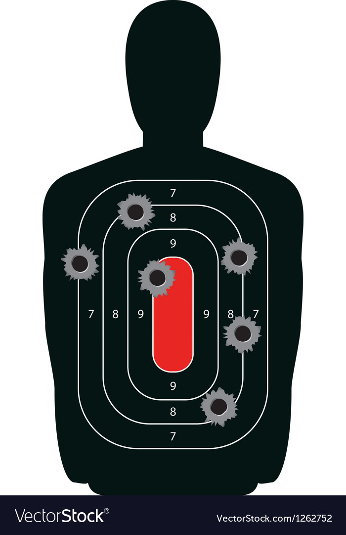 Shooting range silhouette target vector | Price: 1 Credit (USD $1)