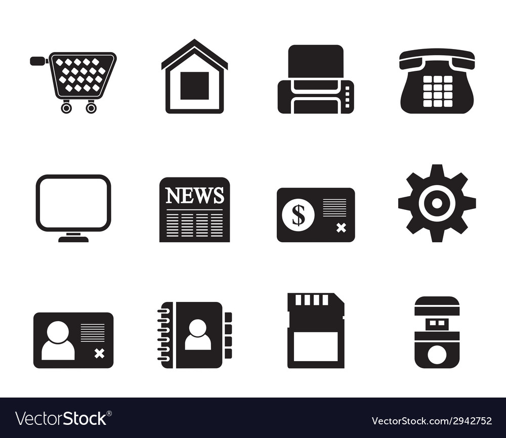 Silhouette business and website icons vector | Price: 1 Credit (USD $1)