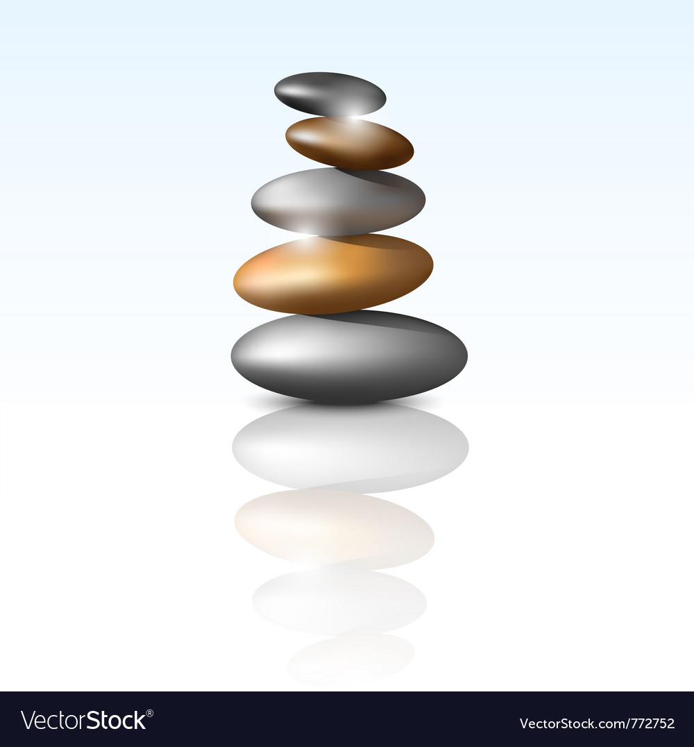 Zen stone tower vector | Price: 1 Credit (USD $1)