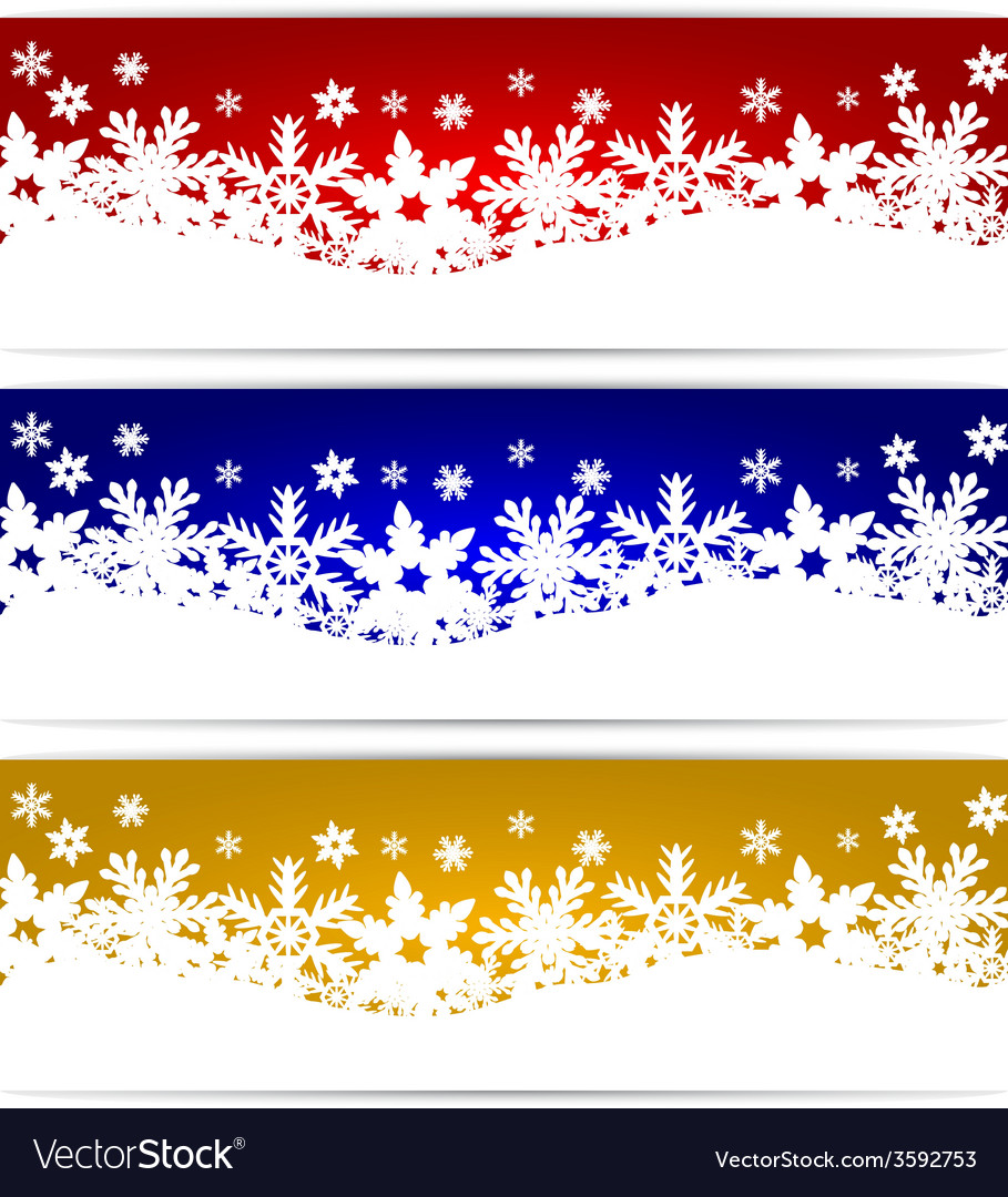 Christmas banners with snowflakes vector | Price: 1 Credit (USD $1)