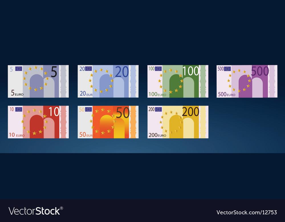 Euro money vector | Price: 1 Credit (USD $1)