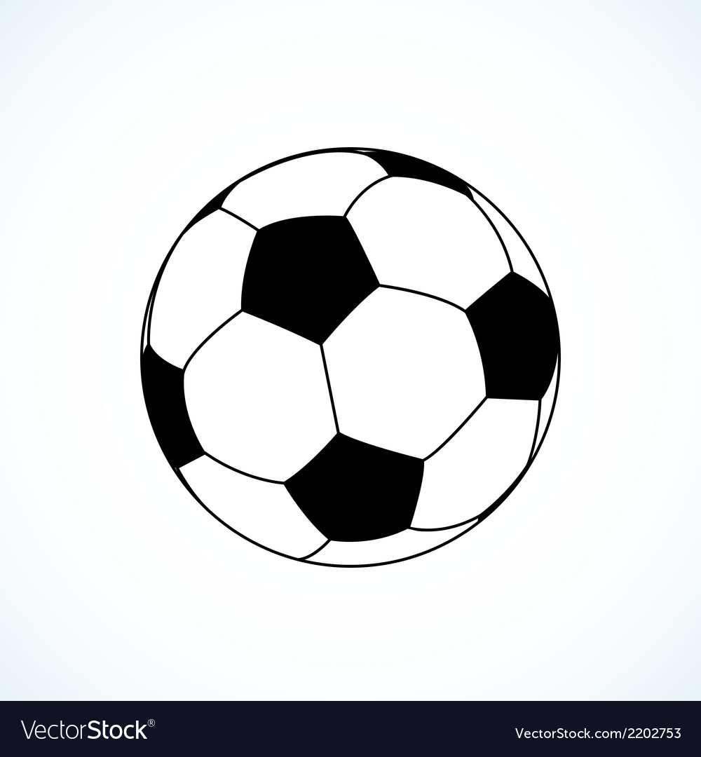 Icon of soccer ball vector | Price: 1 Credit (USD $1)