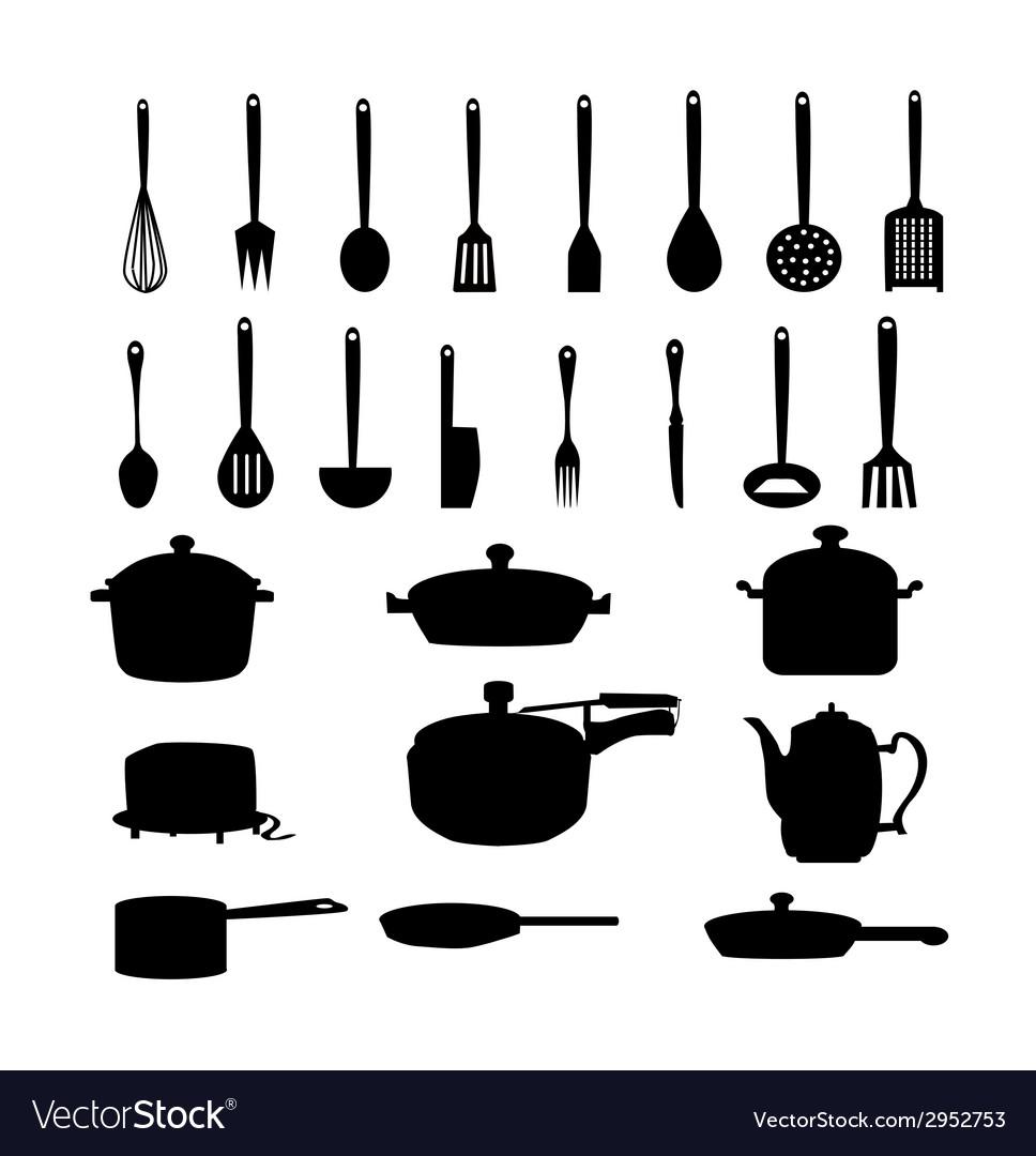 Kitchen materials set vector   Price: 1 Credit (USD $1)