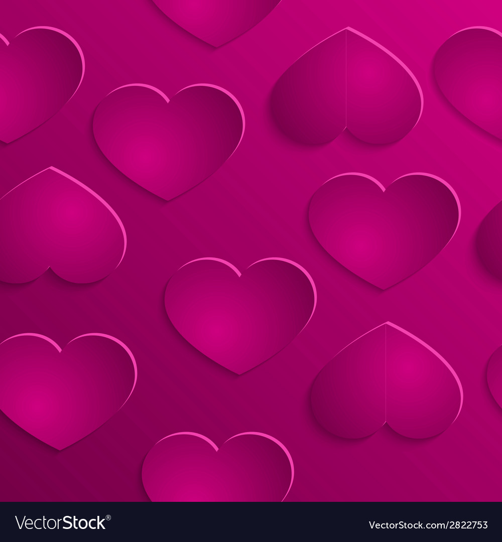 Love hearts valentins day seamless pattern vector | Price: 1 Credit (USD $1)