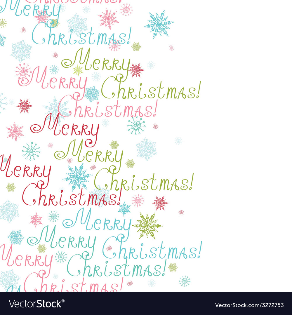 Merry christmas text vertical frame seamless vector | Price: 1 Credit (USD $1)