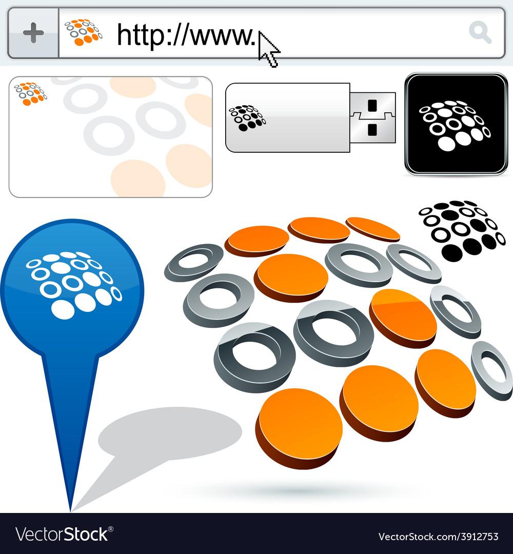 Original s-rotation design element vector | Price: 1 Credit (USD $1)