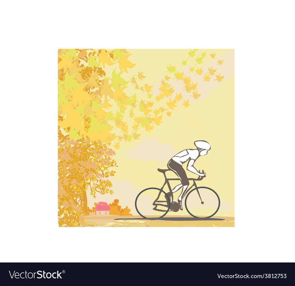 Outdoor autumn bike riding vector | Price: 1 Credit (USD $1)