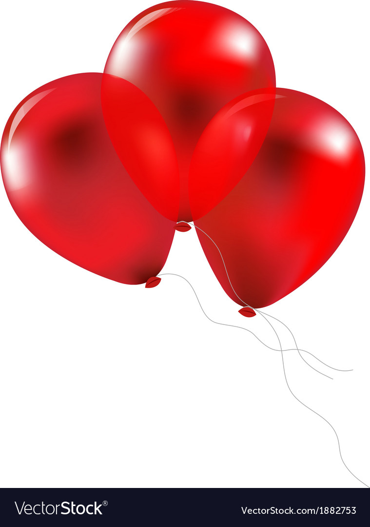 Party red balloons vector | Price: 1 Credit (USD $1)