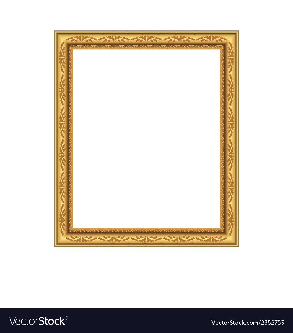 Picture ornate frame isolated on white background vector | Price: 1 Credit (USD $1)