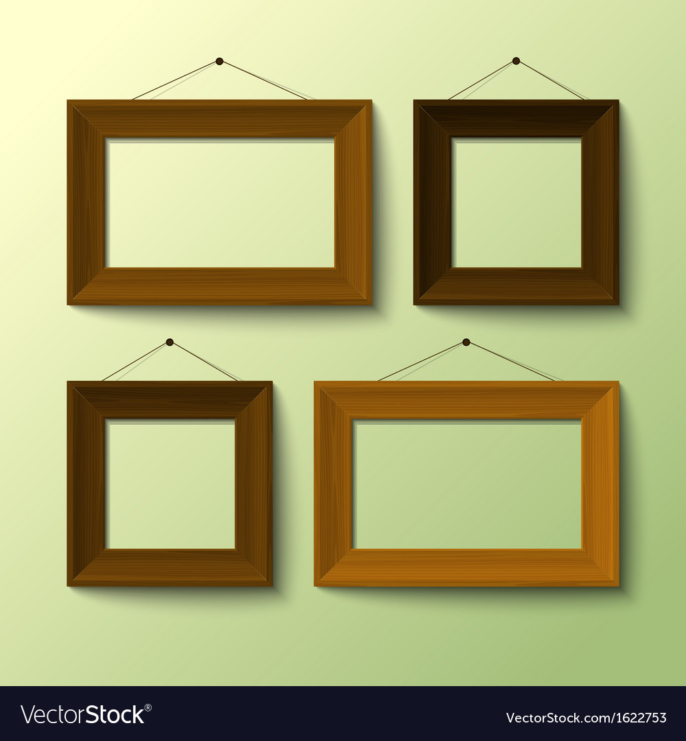 Wooden frame set vector | Price: 1 Credit (USD $1)