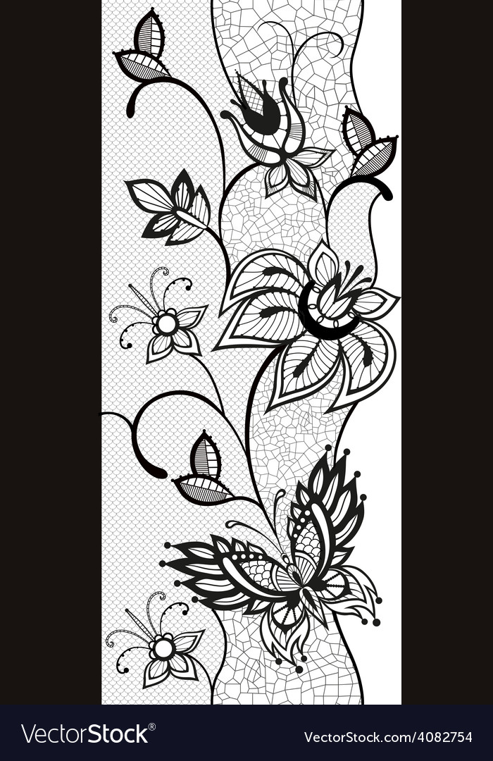 Abstract lace with elements of butterflies and vector | Price: 1 Credit (USD $1)