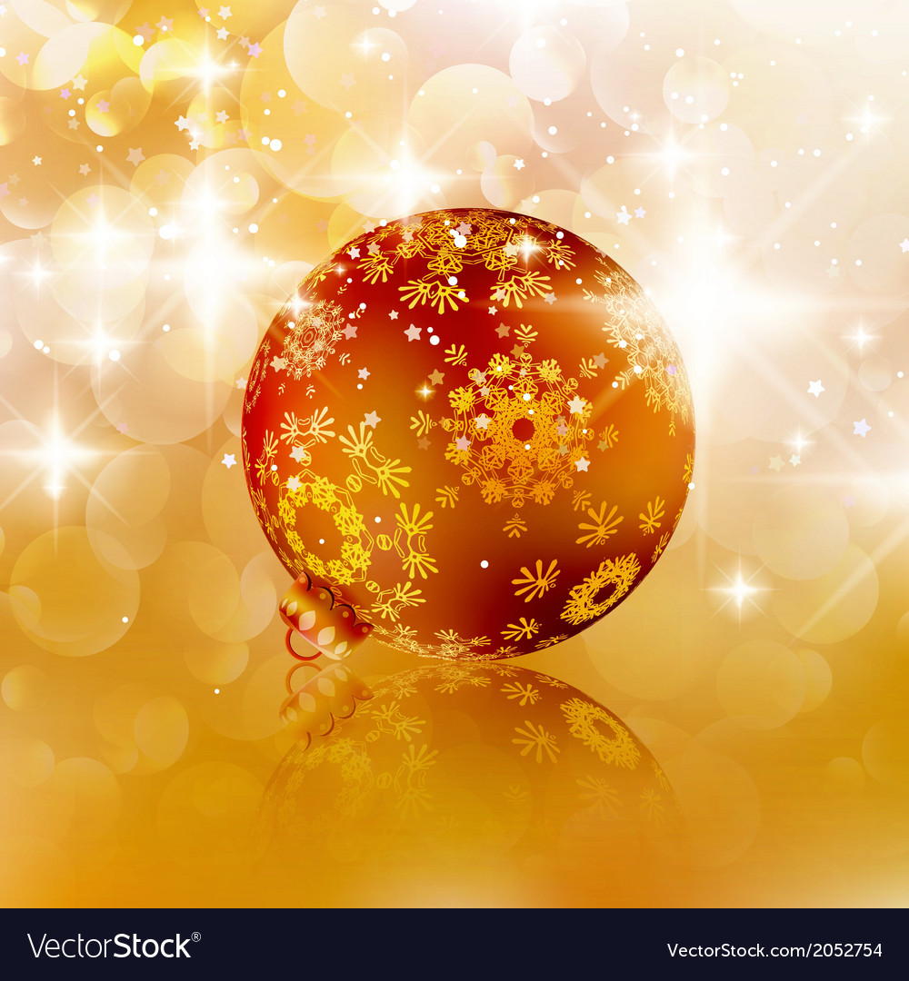 Christmas ball on abstract light background vector | Price: 1 Credit (USD $1)