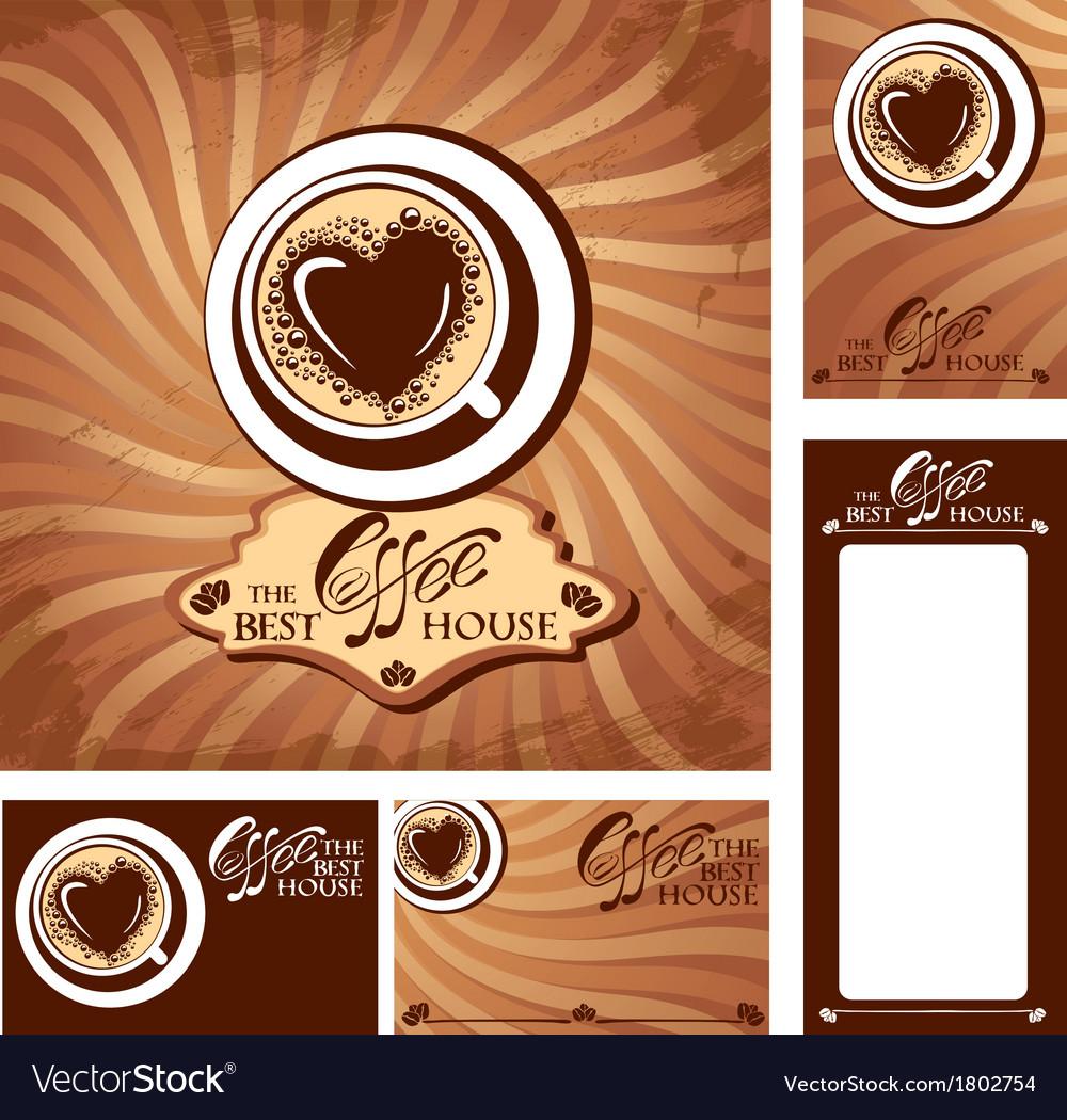 Coffee heart menu 380 vector | Price: 1 Credit (USD $1)
