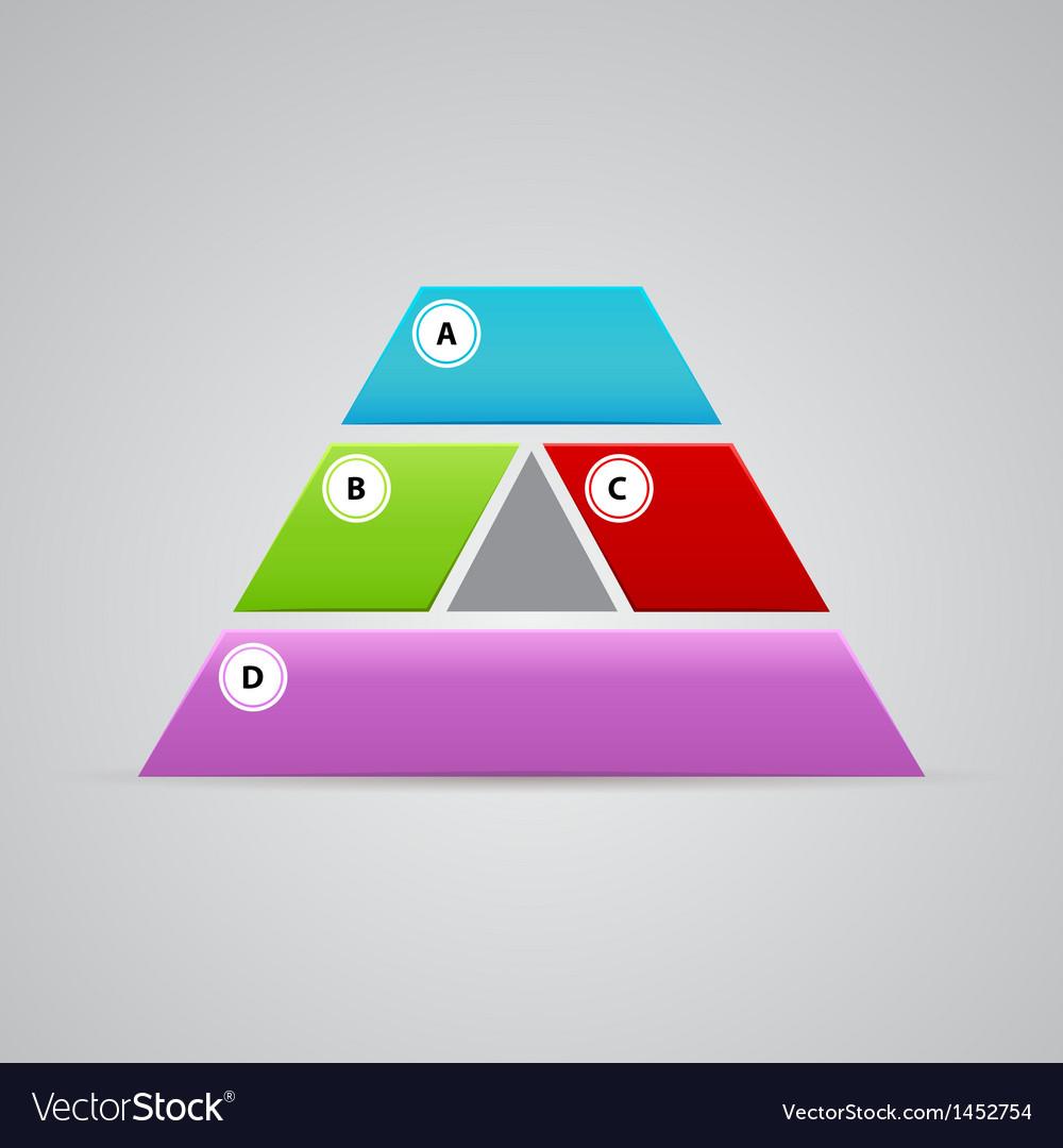 Elegant pyramid logo from many parts vector | Price: 1 Credit (USD $1)
