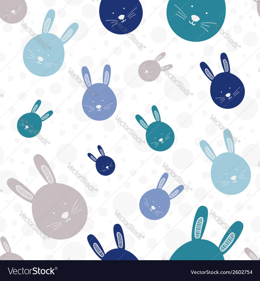 Funny bunny seamless pattern vector | Price: 1 Credit (USD $1)