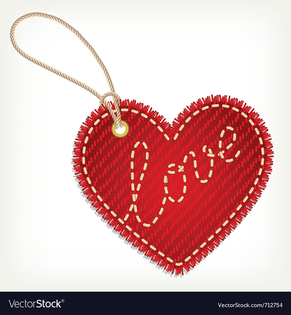 Heart valentine label vector | Price: 1 Credit (USD $1)