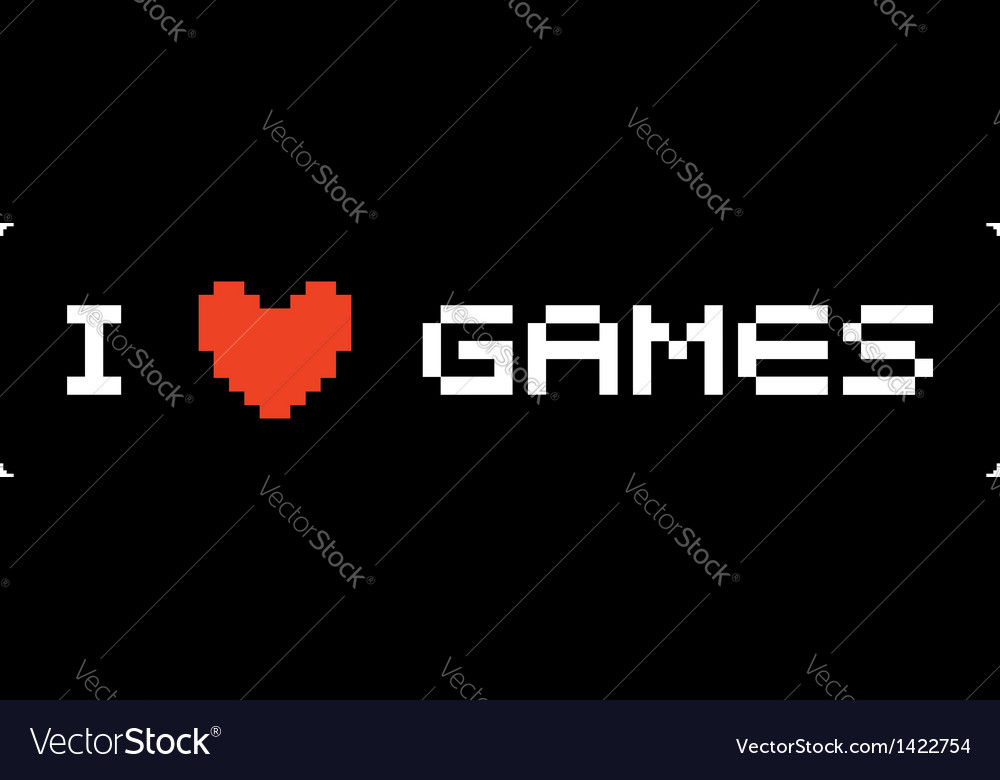 I love games label vector | Price: 1 Credit (USD $1)