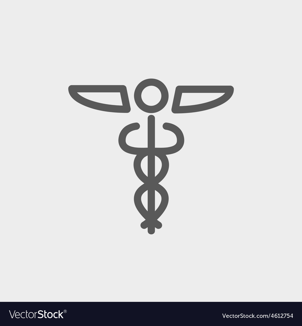 Medical symbol thin line icon vector | Price: 1 Credit (USD $1)